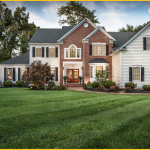 Integrated Pest Management home and green lawn
