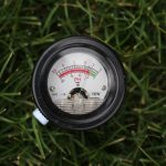 Device to measure soil ph levels and ensure trees are planted in proper location